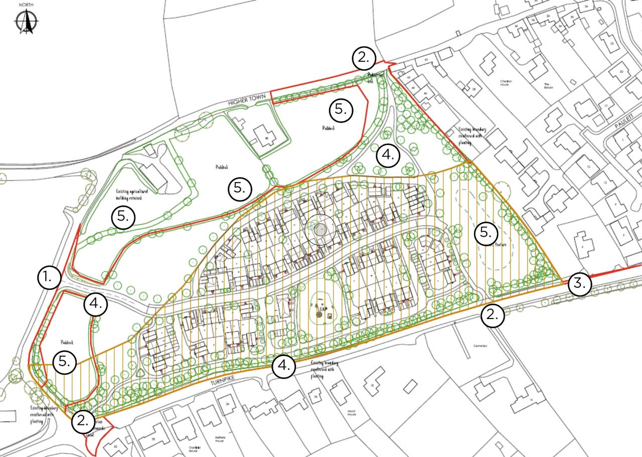 Illustrative layout from the outline planning permission